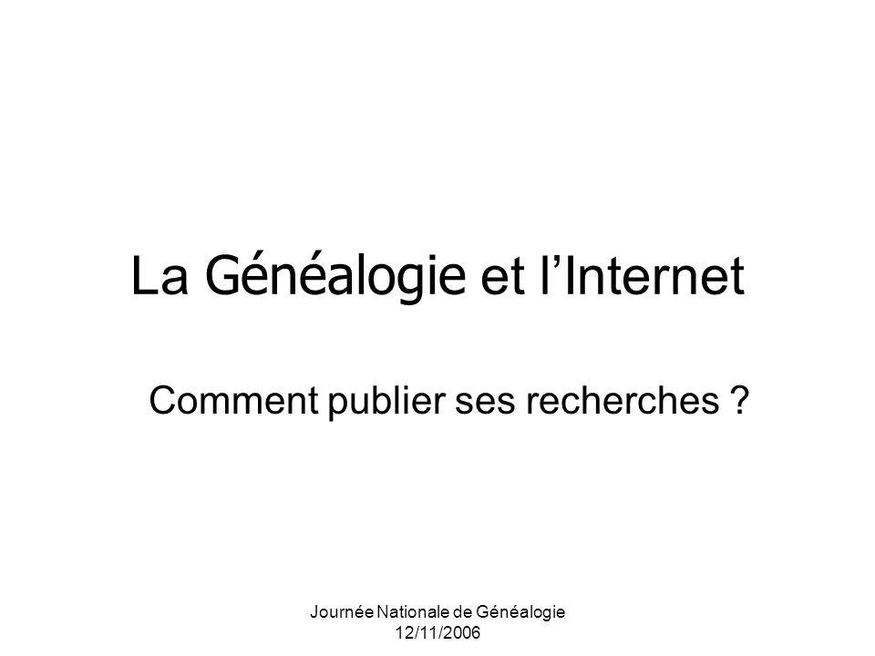 La Généalogie et l'Internet