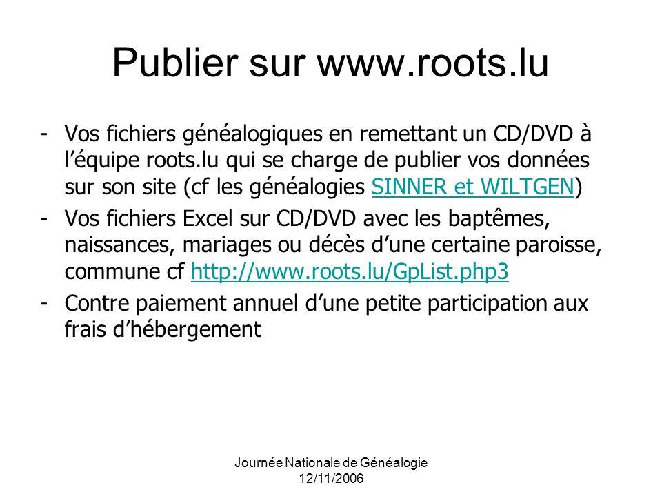 Publier sur www.roots.lu