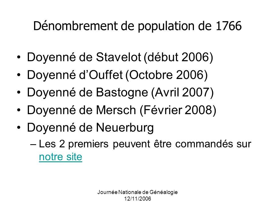 Dénombrement de population de 1766