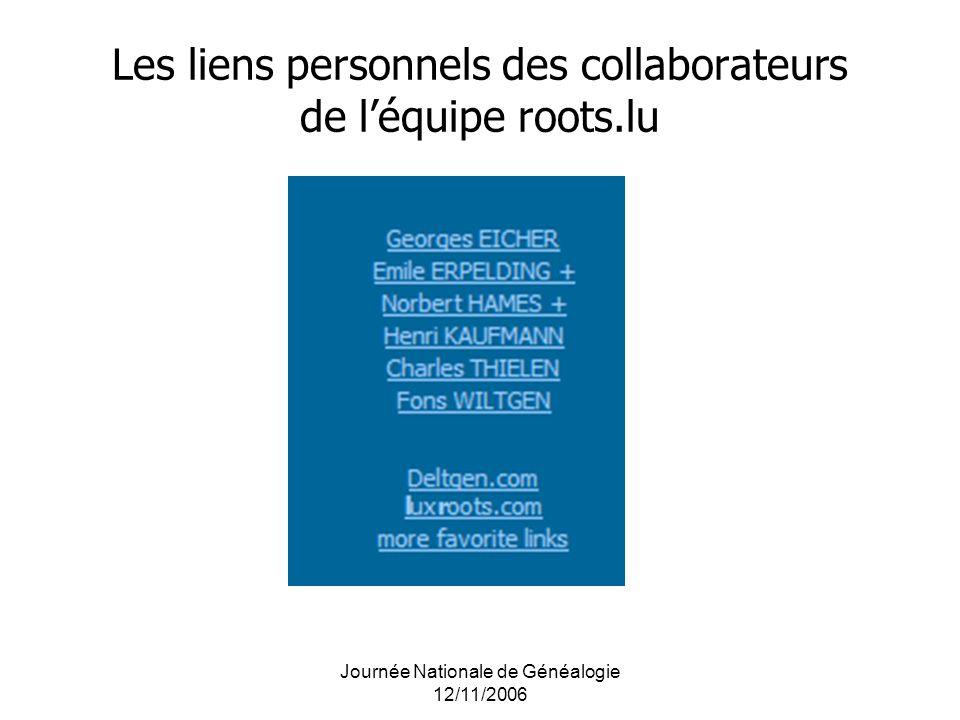 Les liens personnels des collaborateurs de l'équipe roots.lu
