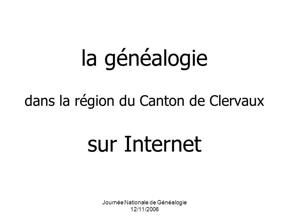 la généalogie dans la région du Canton de Clervaux sur Internet