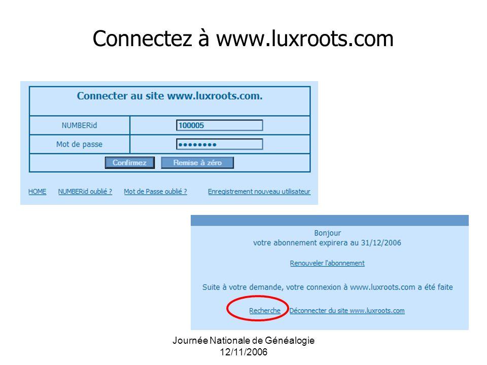 Connectez à www.luxroots.com