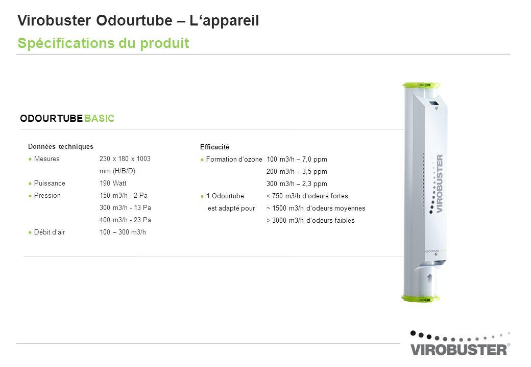 Virobuster Odourtube – L'appareil