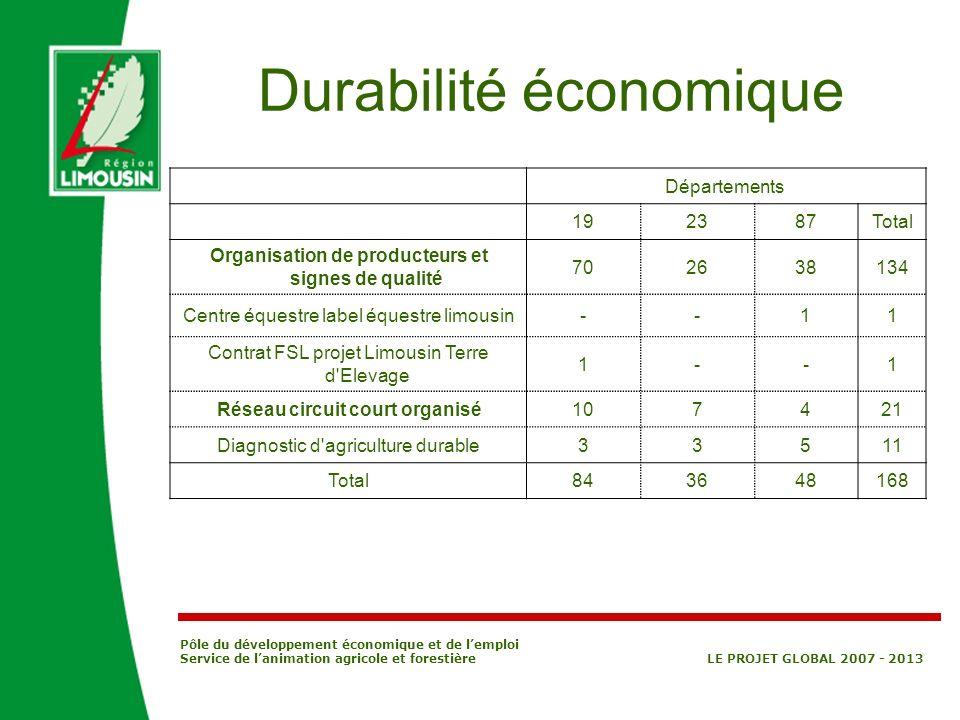 Durabilité économique