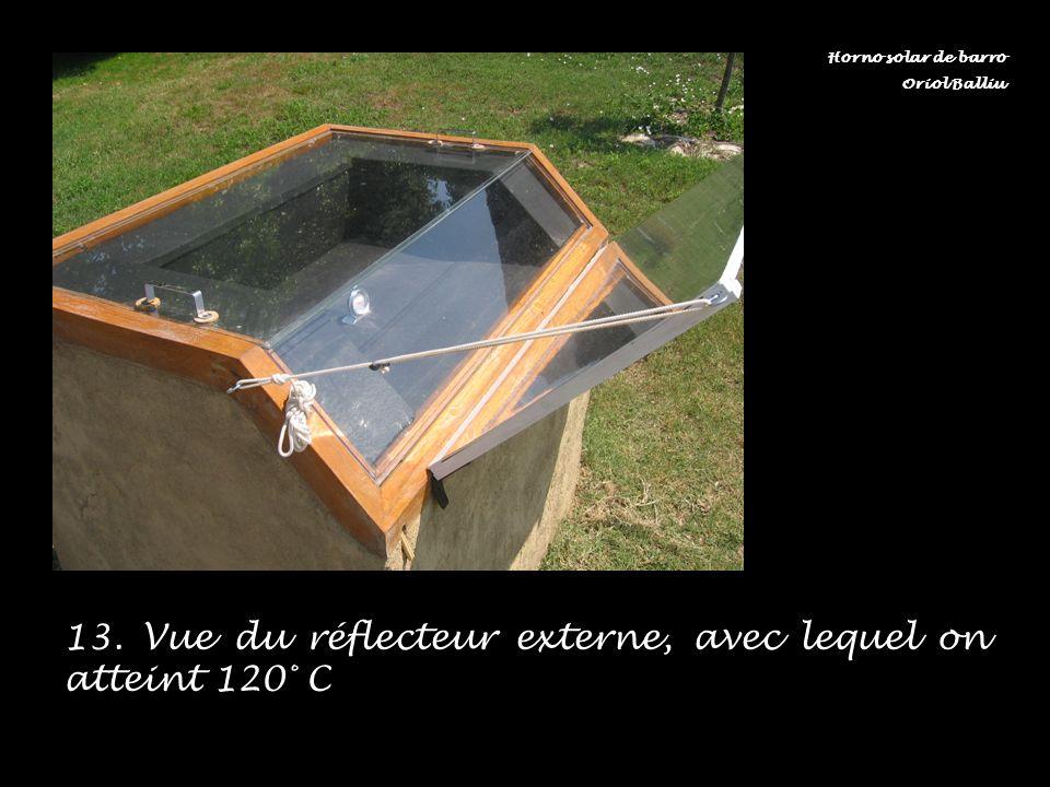 13. Vue du réflecteur externe, avec lequel on atteint 120° C
