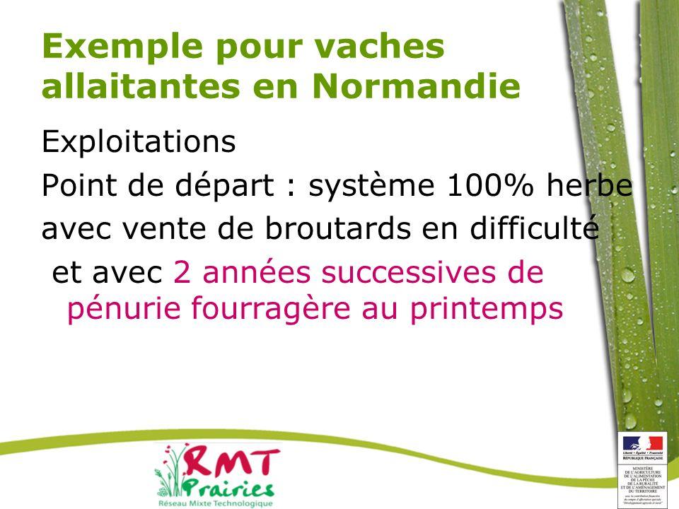 Exemple pour vaches allaitantes en Normandie