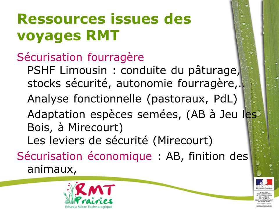 Ressources issues des voyages RMT
