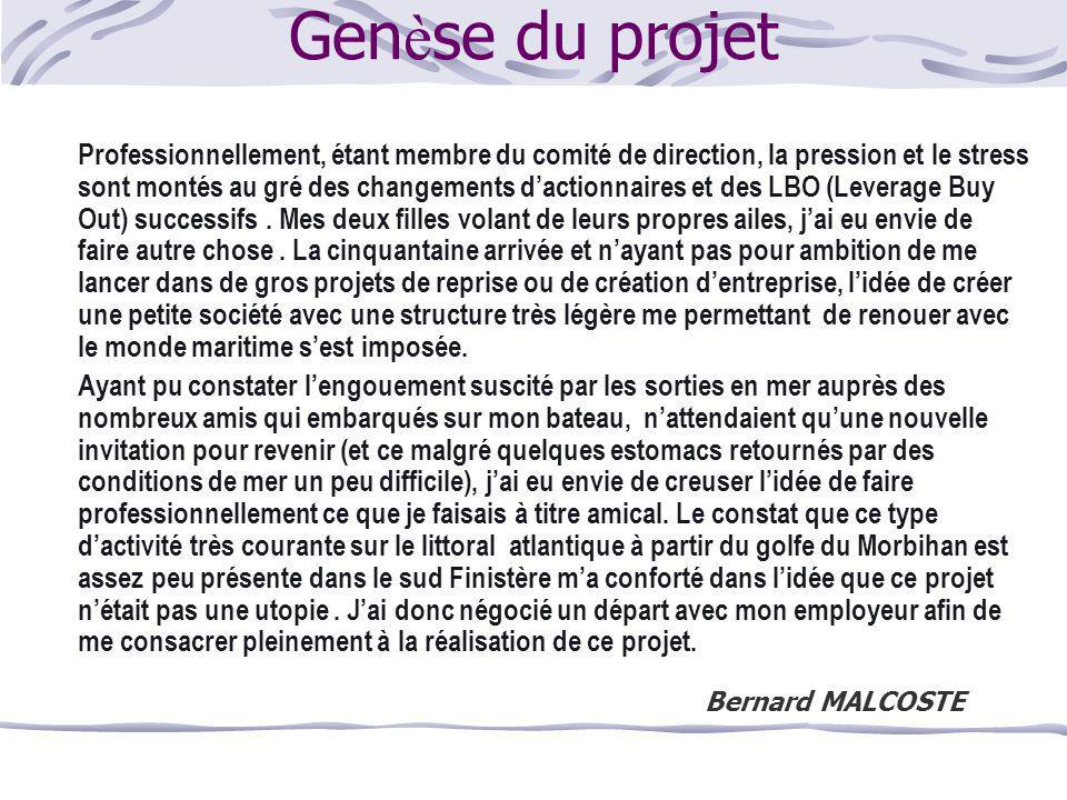 Genèse du projet Bernard MALCOSTE
