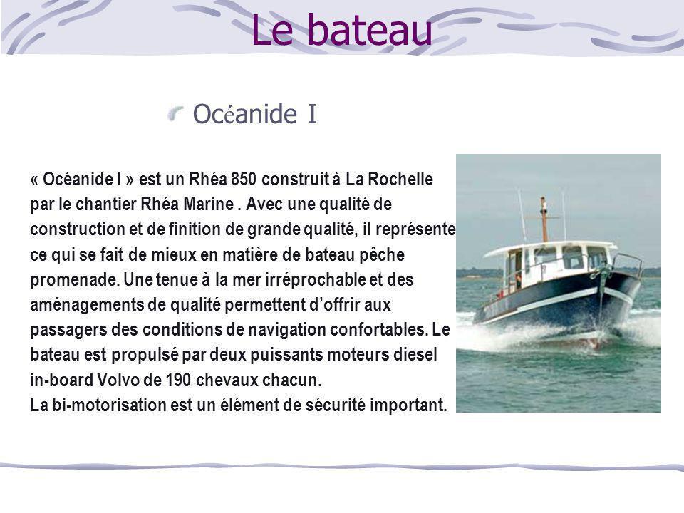 Le bateau Océanide I. « Océanide I » est un Rhéa 850 construit à La Rochelle. par le chantier Rhéa Marine . Avec une qualité de.