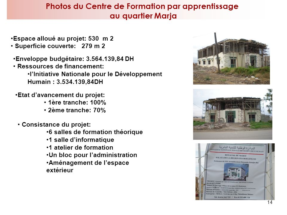 Photos du Centre de Formation par apprentissage