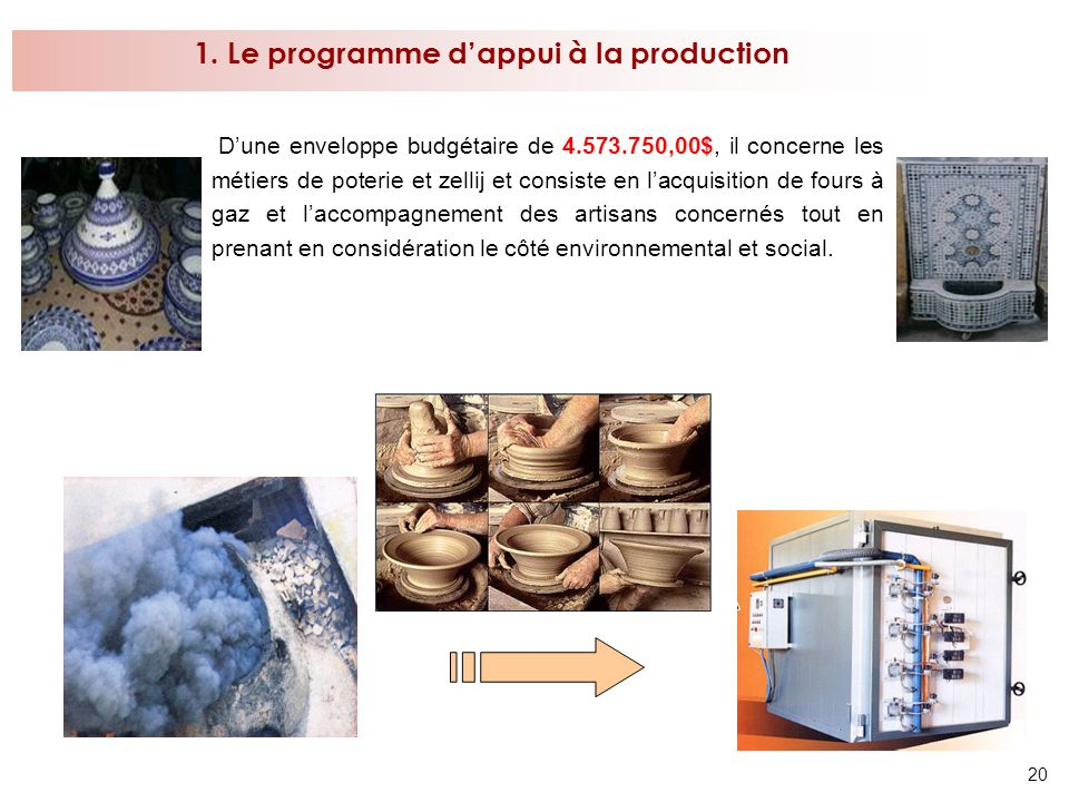 1. Le programme d'appui à la production
