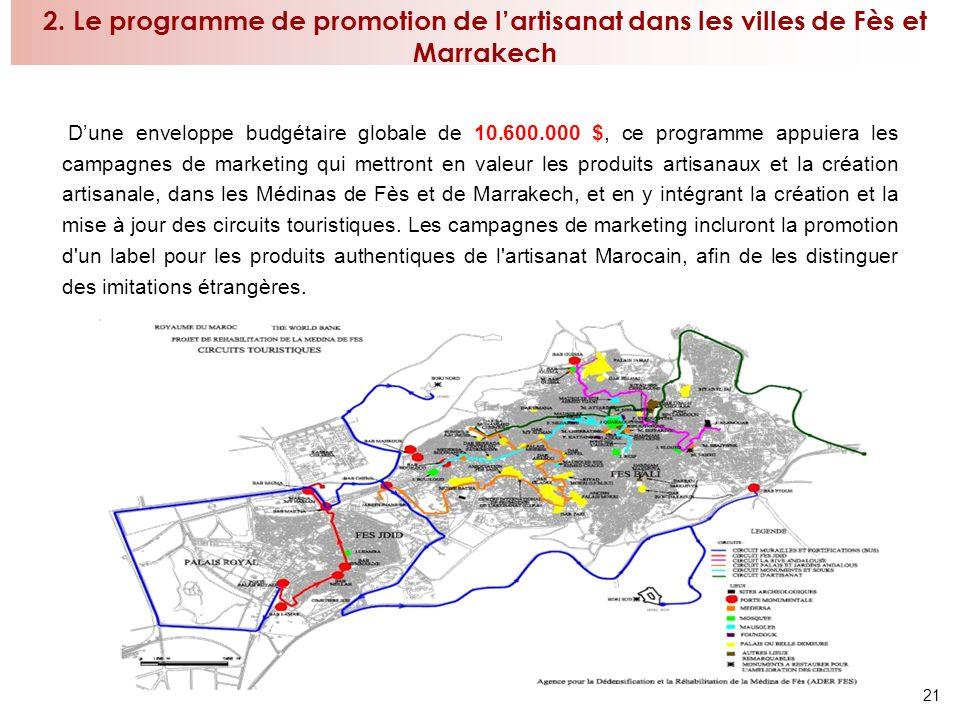 2. Le programme de promotion de l'artisanat dans les villes de Fès et Marrakech