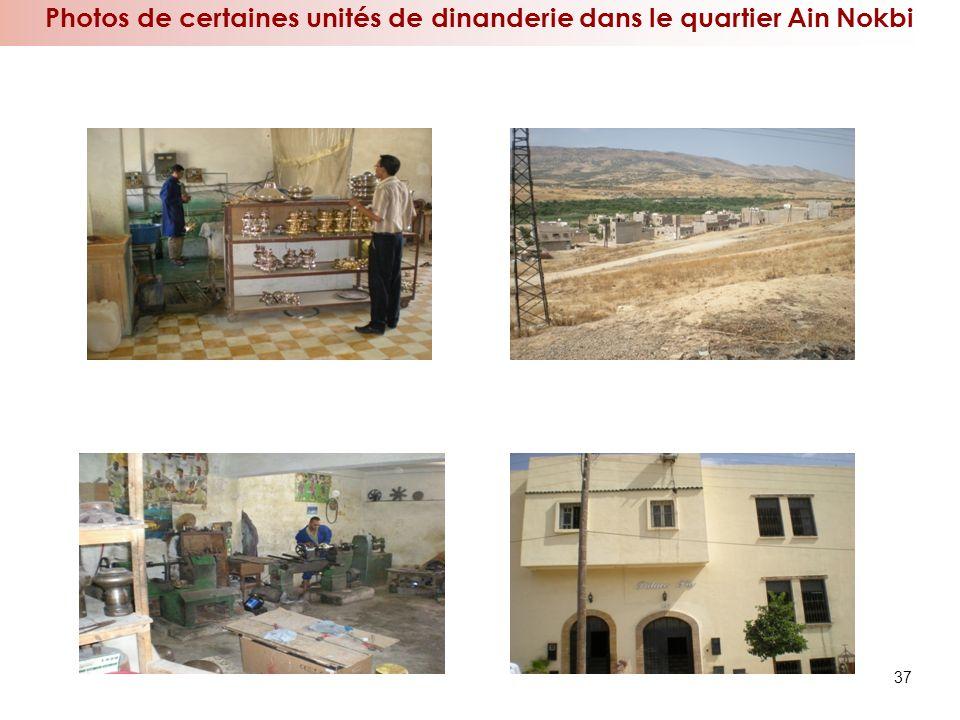 Photos de certaines unités de dinanderie dans le quartier Ain Nokbi