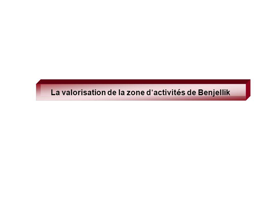 La valorisation de la zone d'activités de Benjellik