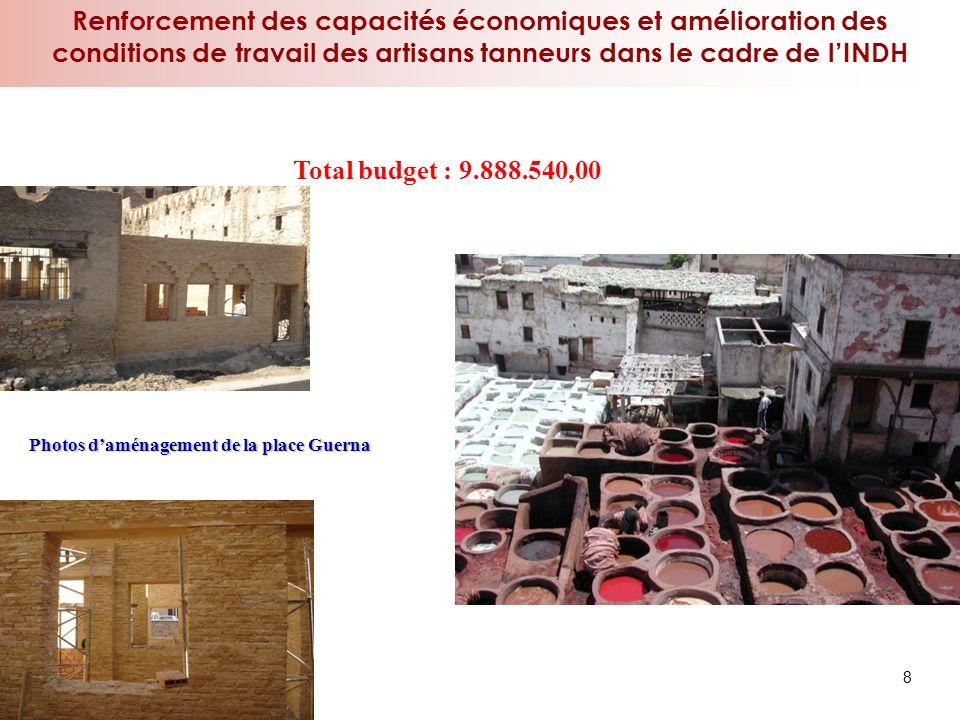 Renforcement des capacités économiques et amélioration des conditions de travail des artisans tanneurs dans le cadre de l'INDH