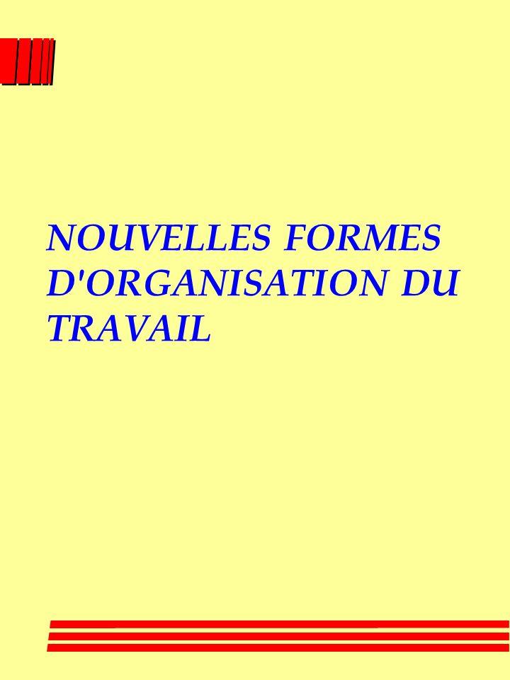 NOUVELLES FORMES D ORGANISATION DU TRAVAIL