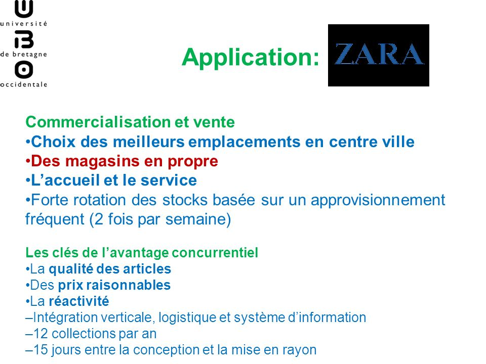 Application: Commercialisation et vente