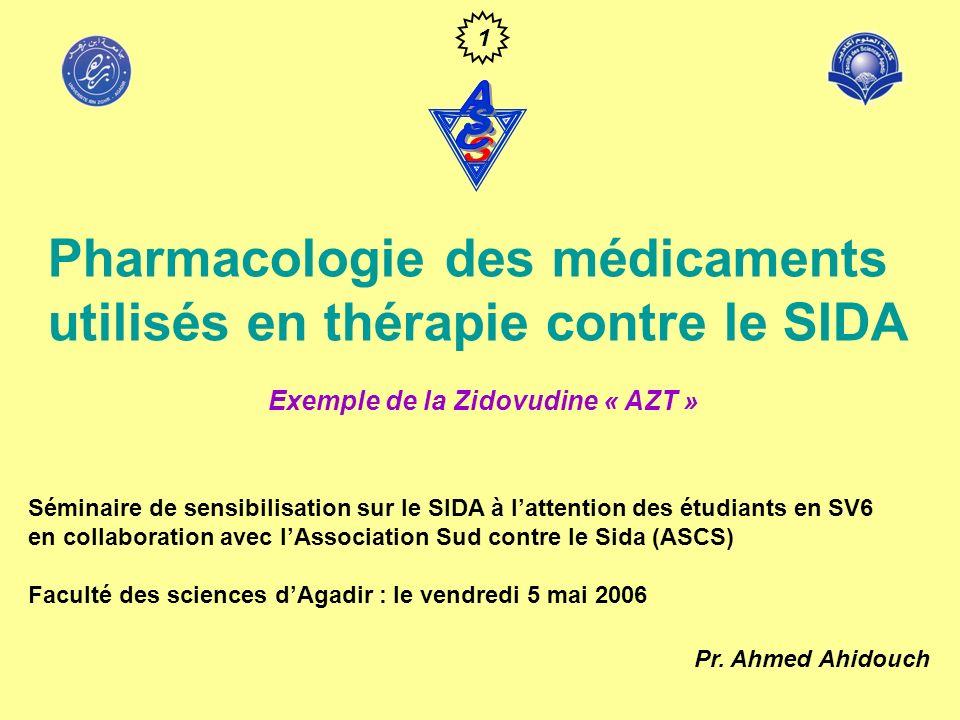 Pharmacologie des médicaments utilisés en thérapie contre le SIDA
