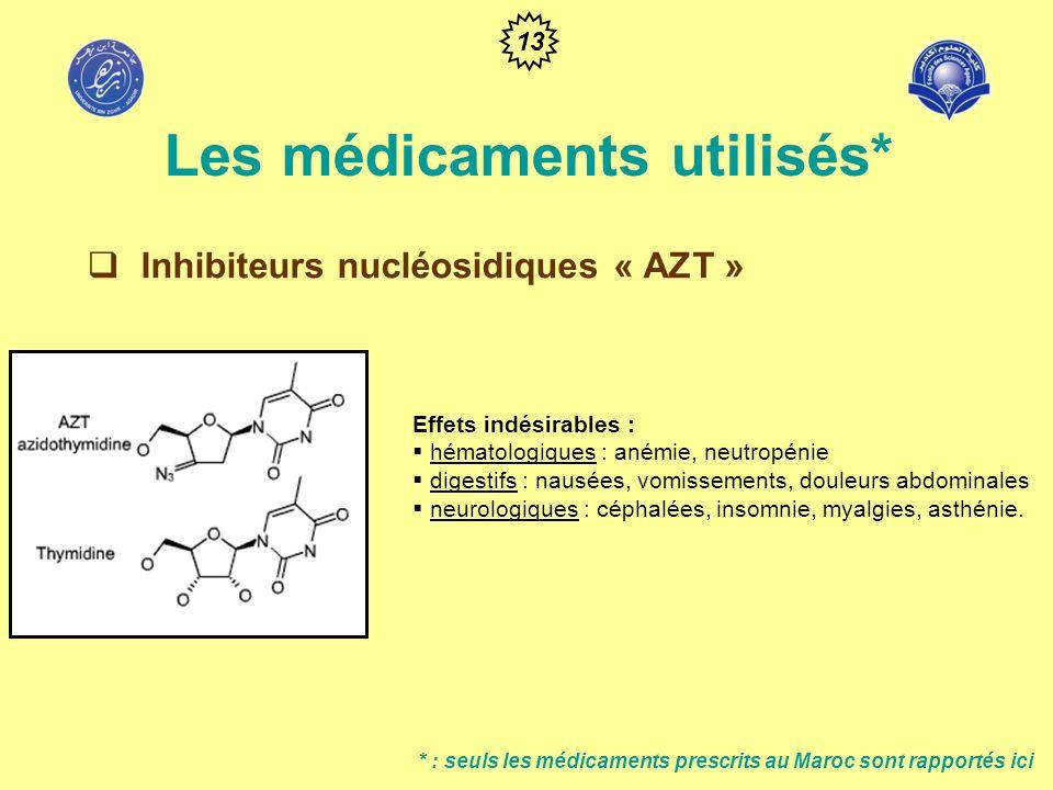 Les médicaments utilisés*