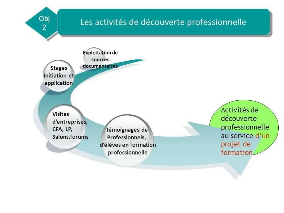 Les activités de découverte professionnelle