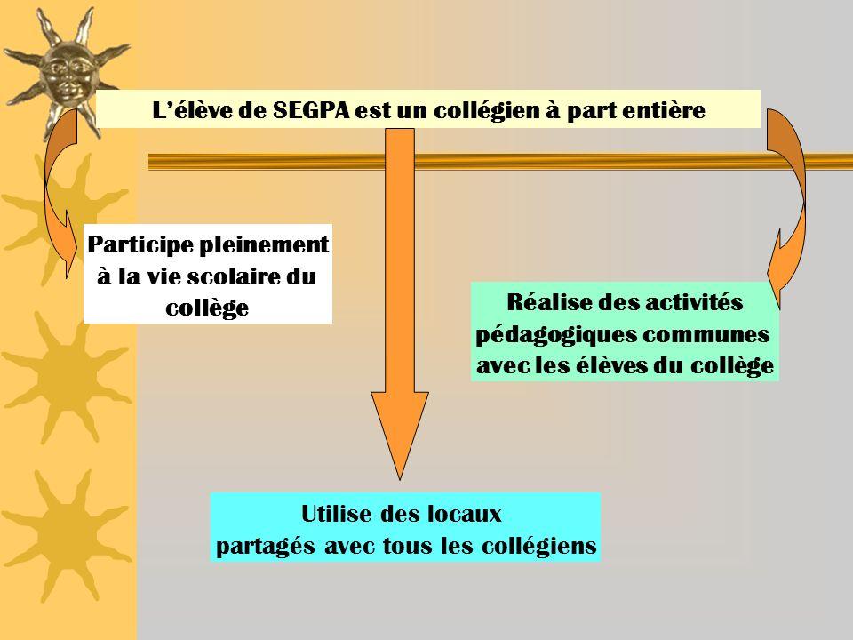L'élève de SEGPA est un collégien à part entière