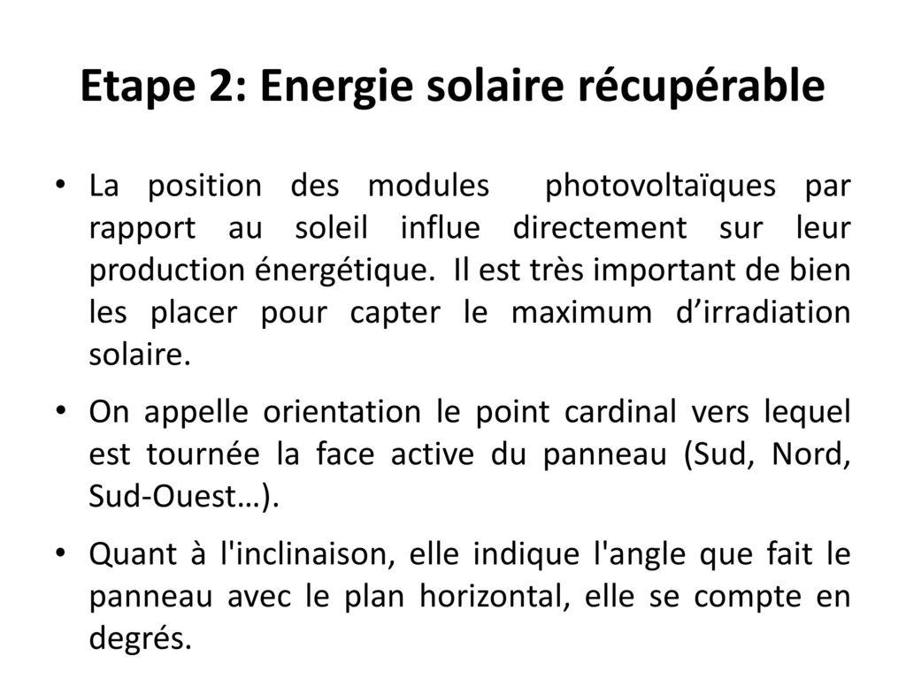 dimensionnement d un syst me solaire photovolta que ppt t l charger. Black Bedroom Furniture Sets. Home Design Ideas