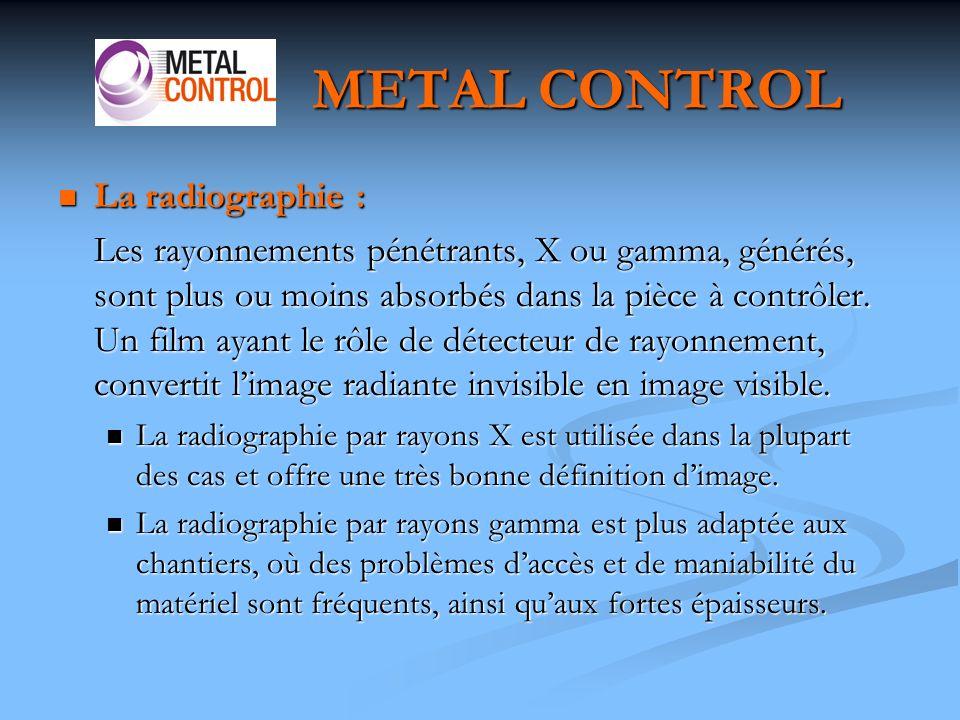 METAL CONTROL La radiographie :