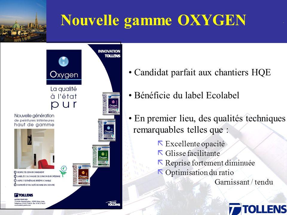 Nouvelle gamme OXYGEN Candidat parfait aux chantiers HQE