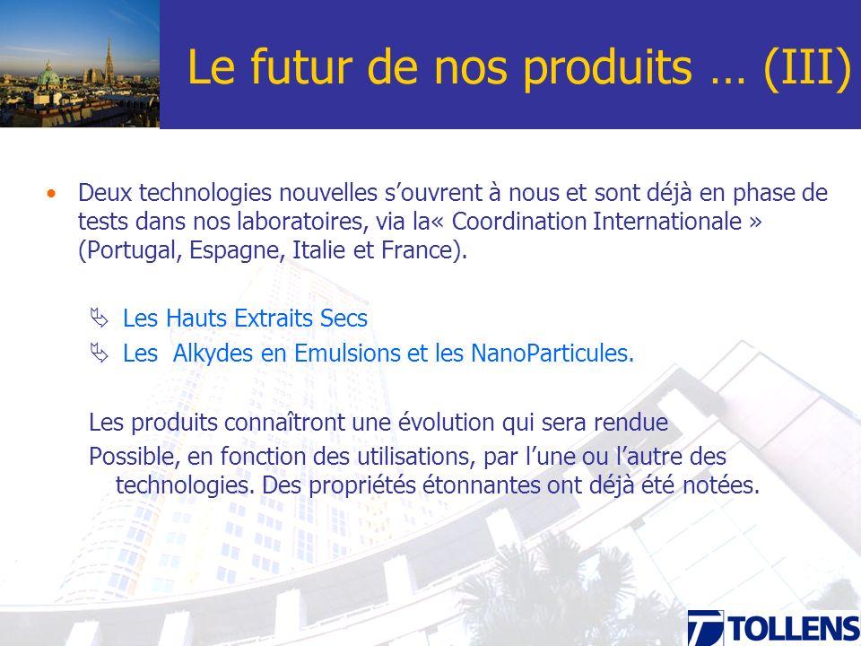 Le futur de nos produits … (III)