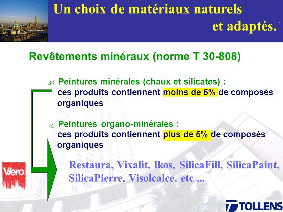 Un choix de matériaux naturels et adaptés.