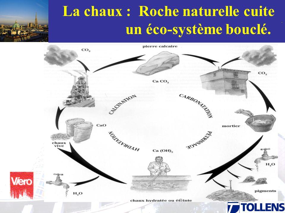 La chaux : Roche naturelle cuite un éco-système bouclé.