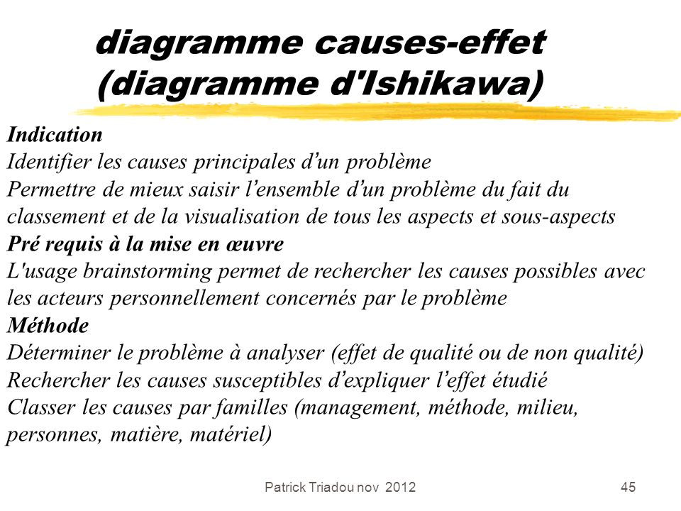 diagramme causes-effet (diagramme d Ishikawa)