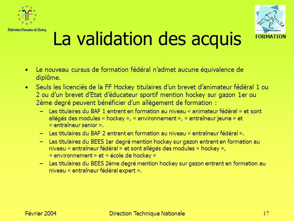 La validation des acquis