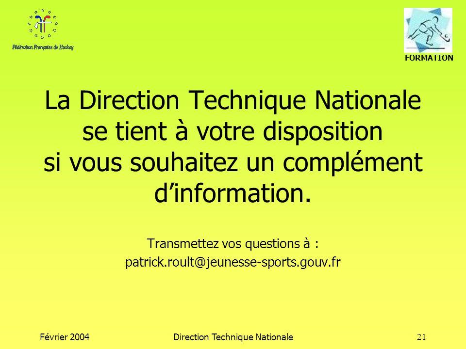 Transmettez vos questions à : patrick.roult@jeunesse-sports.gouv.fr