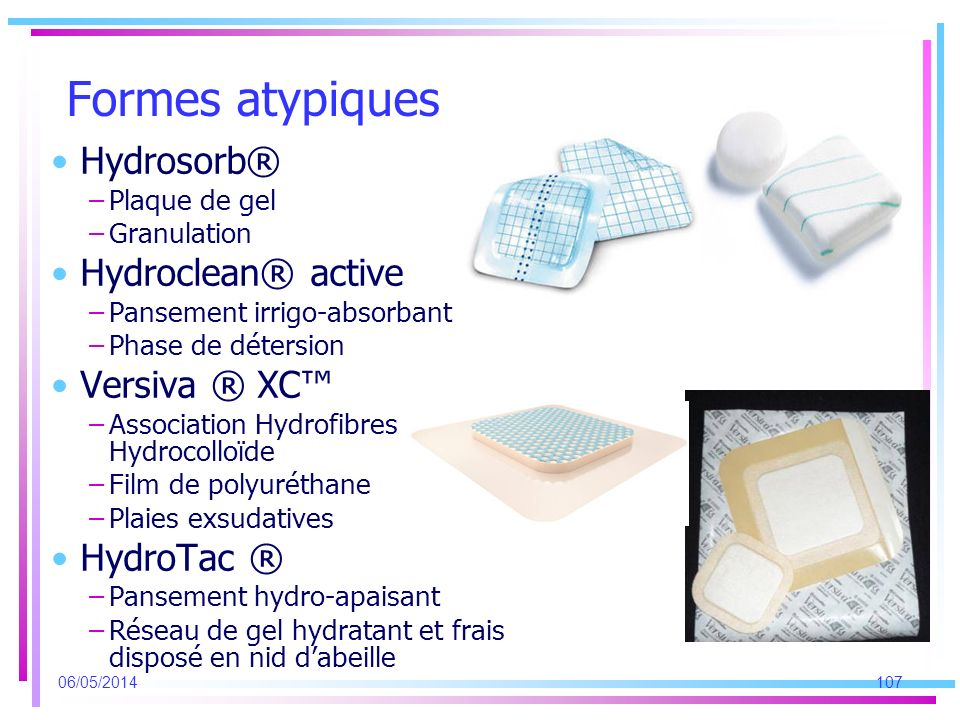 Formes atypiques Hydrosorb® Hydroclean® active Versiva ® XC™