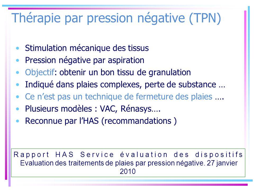 Thérapie par pression négative (TPN)