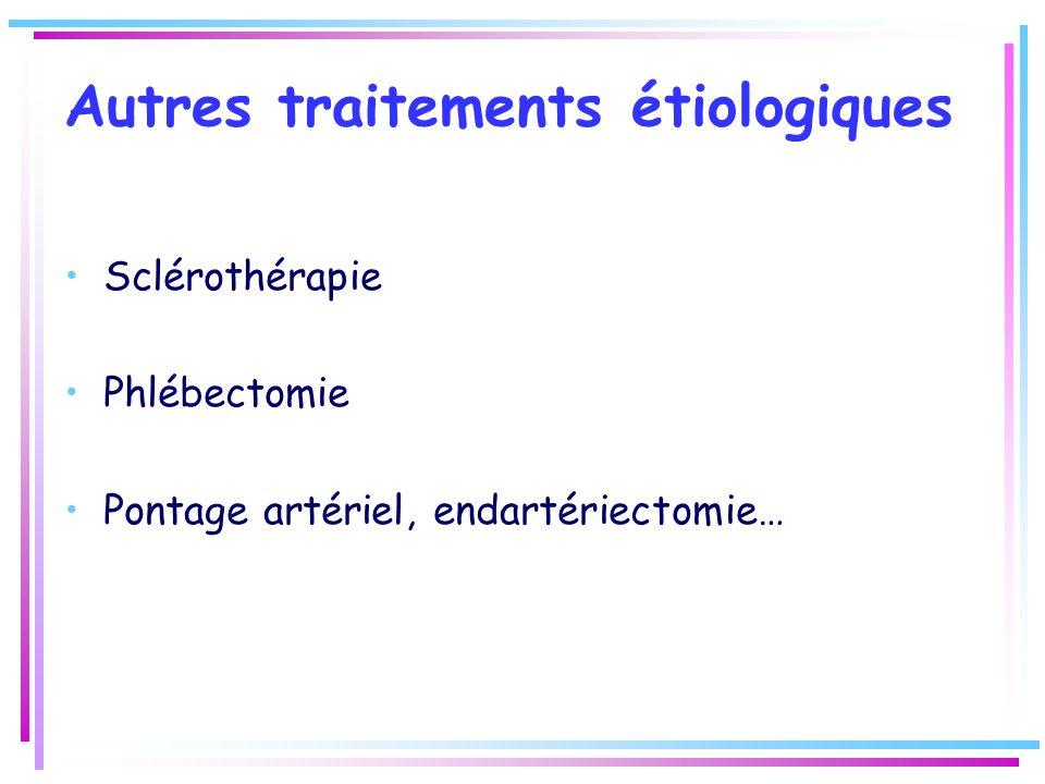 Autres traitements étiologiques