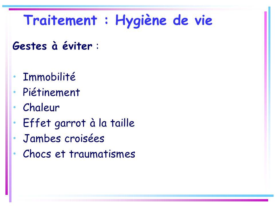 Traitement : Hygiène de vie