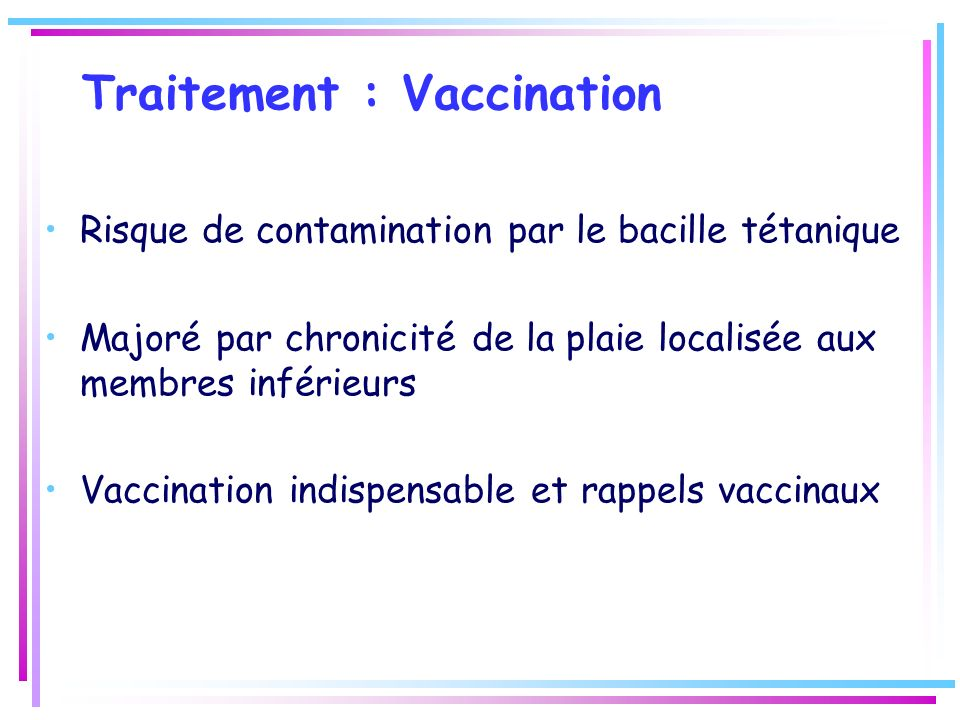 Traitement : Vaccination