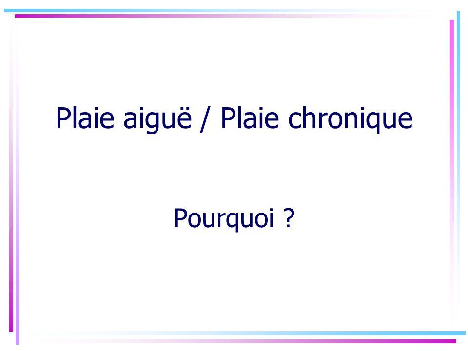 Plaie aiguë / Plaie chronique