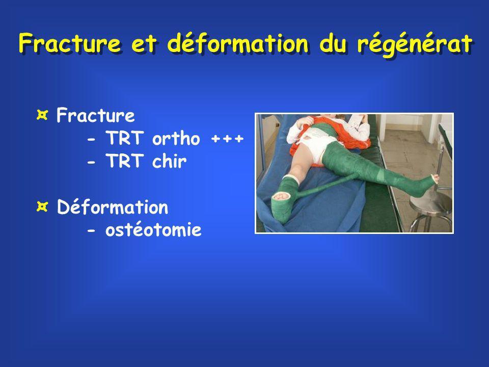 Fracture et déformation du régénérat
