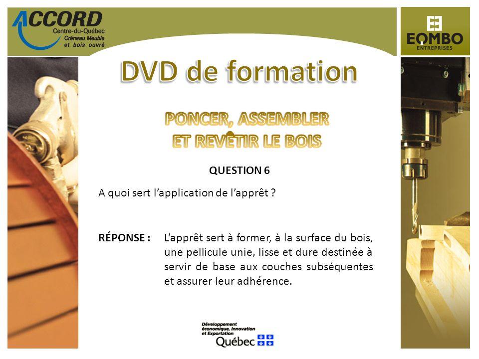 DVD de formation PONCER, ASSEMBLER ET REVÊTIR LE BOIS QUESTION 6