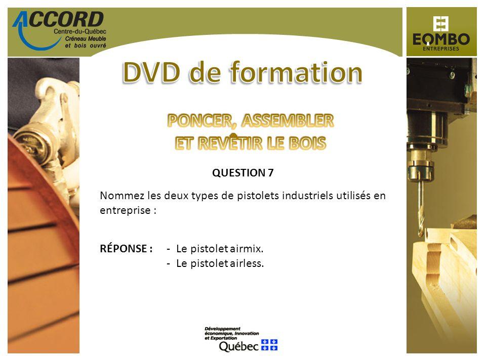 DVD de formation PONCER, ASSEMBLER ET REVÊTIR LE BOIS QUESTION 7
