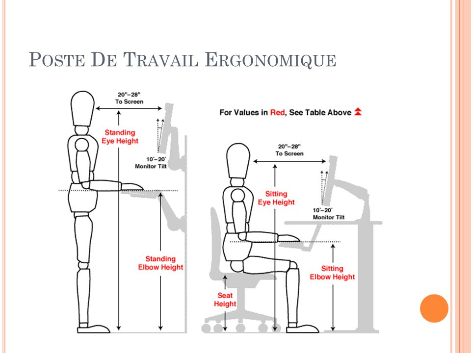 L ergonomie ppt t l charger for Bureau 4 postes de travail