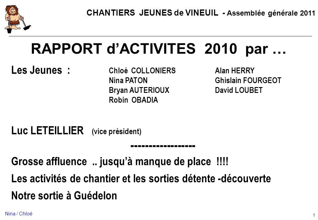 RAPPORT d'ACTIVITES 2010 par …