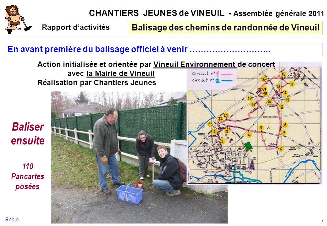 Balisage des chemins de randonnée de Vineuil