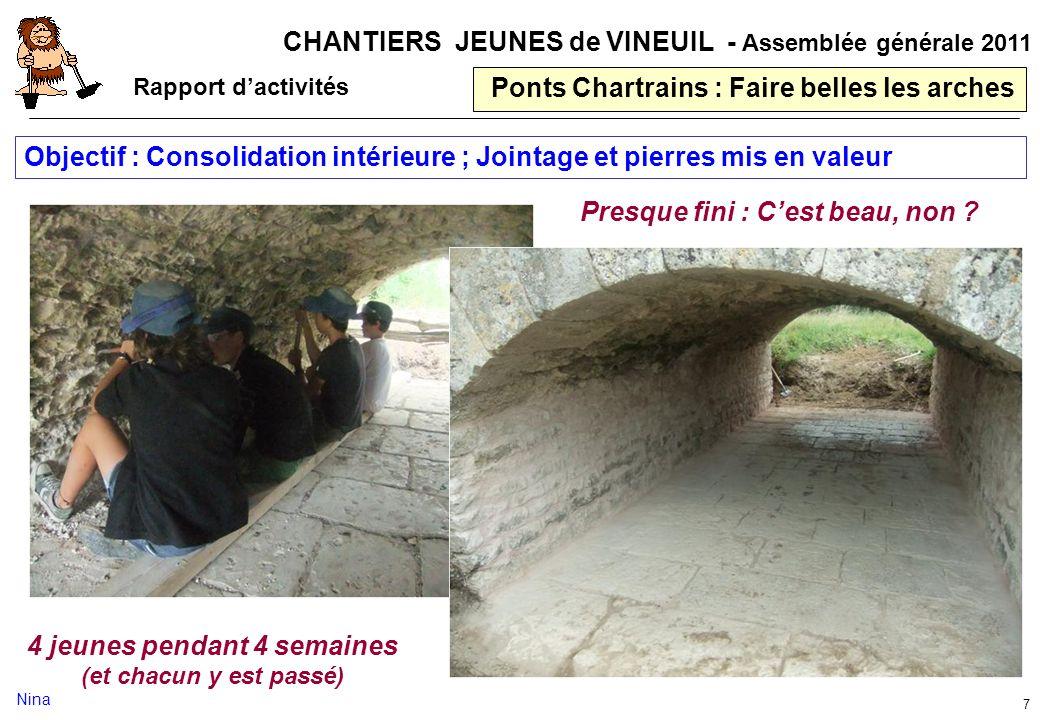Ponts Chartrains : Faire belles les arches