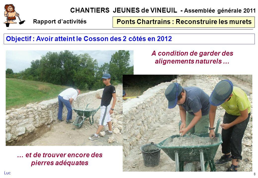 Ponts Chartrains : Reconstruire les murets