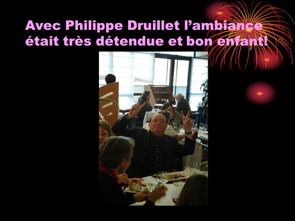 Avec Philippe Druillet l'ambiance était très détendue et bon enfant!