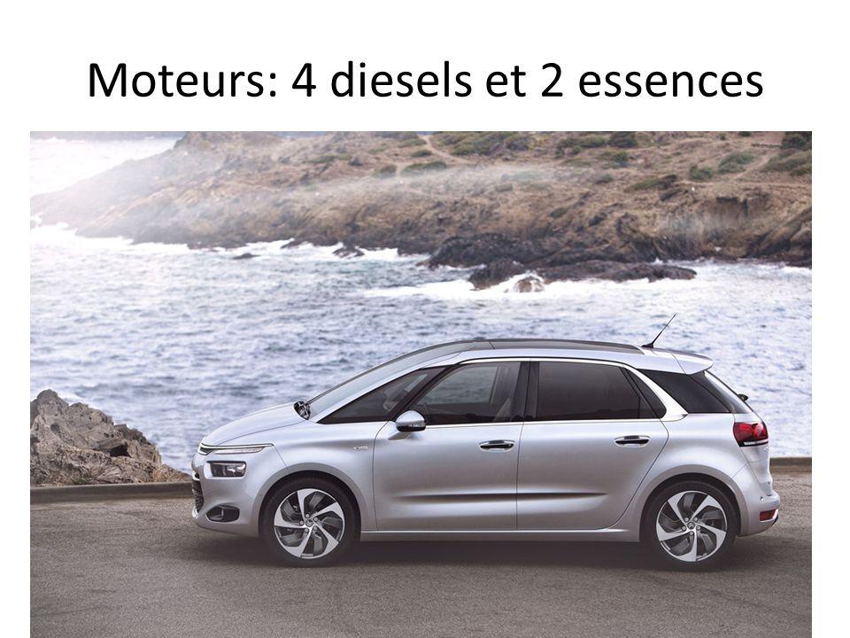 Moteurs: 4 diesels et 2 essences